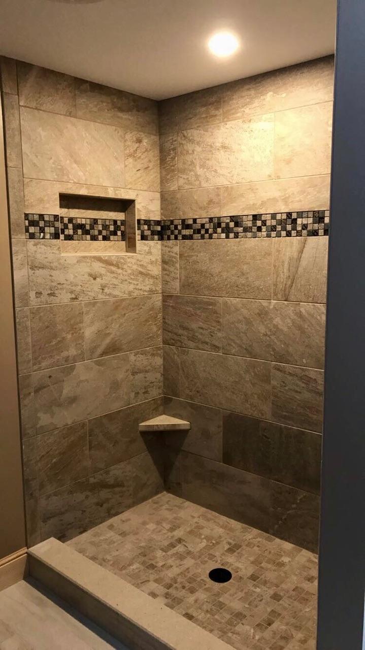 Custom Shower mosaic decor