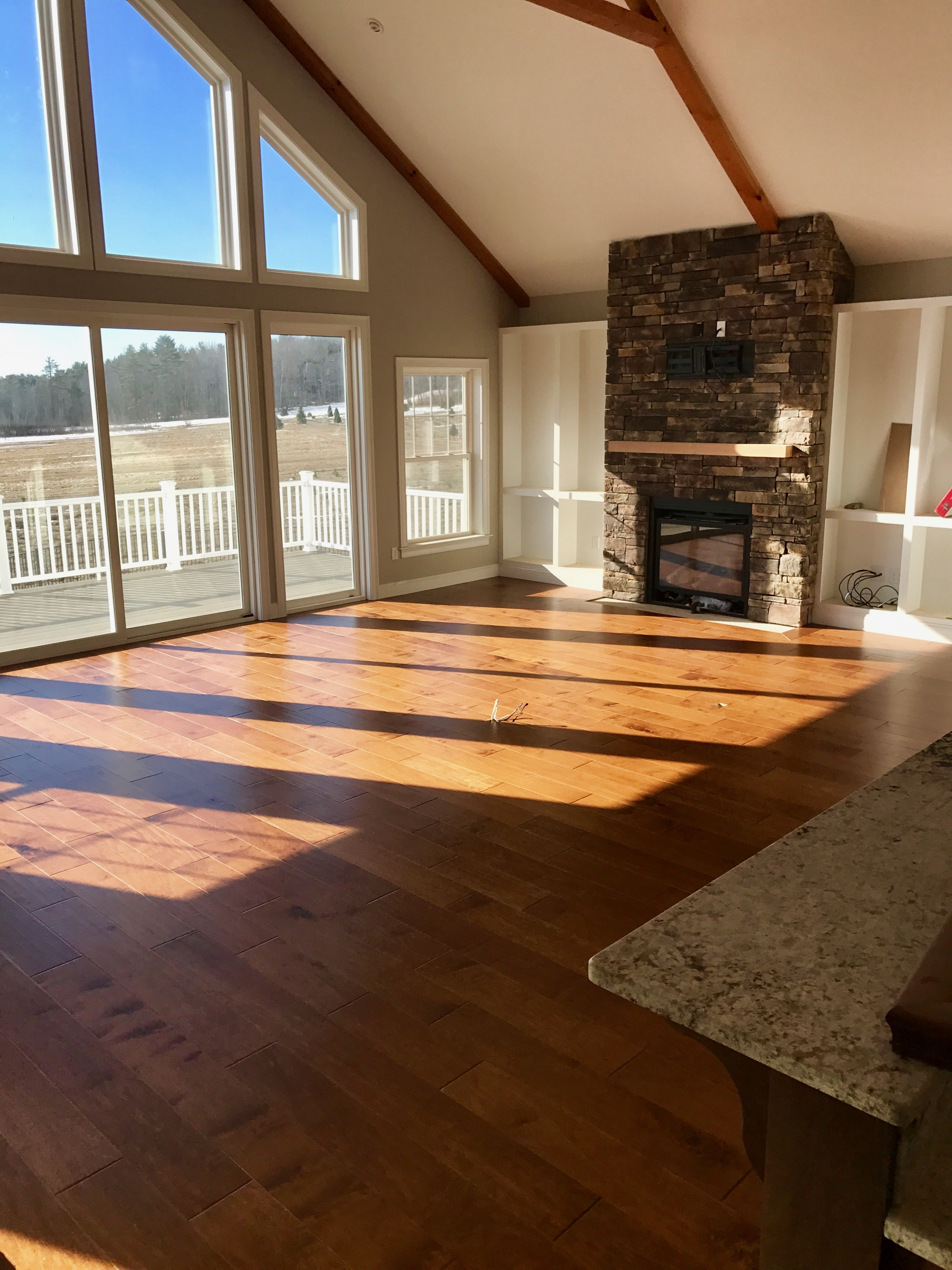 Stained Engineered Hardwood